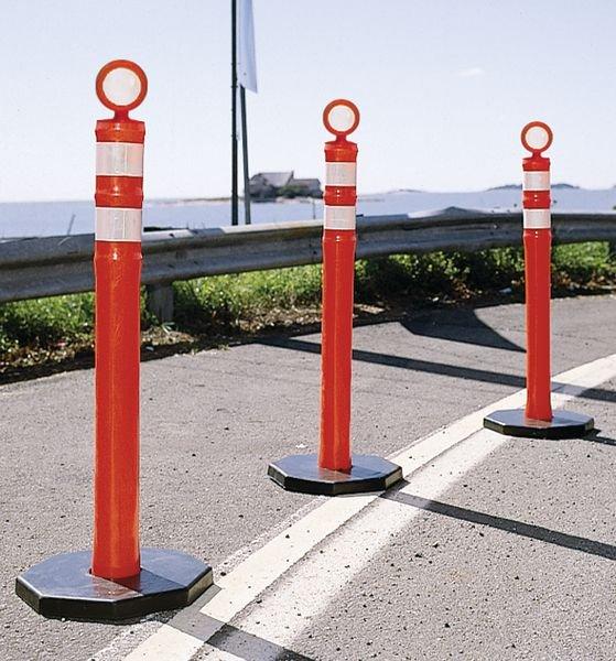 Poteau de signalisation mobile à tête ronde - Seton