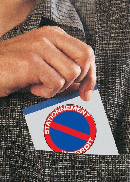 Autocollants dissuasifs Stationnement interdit - Accès au parking