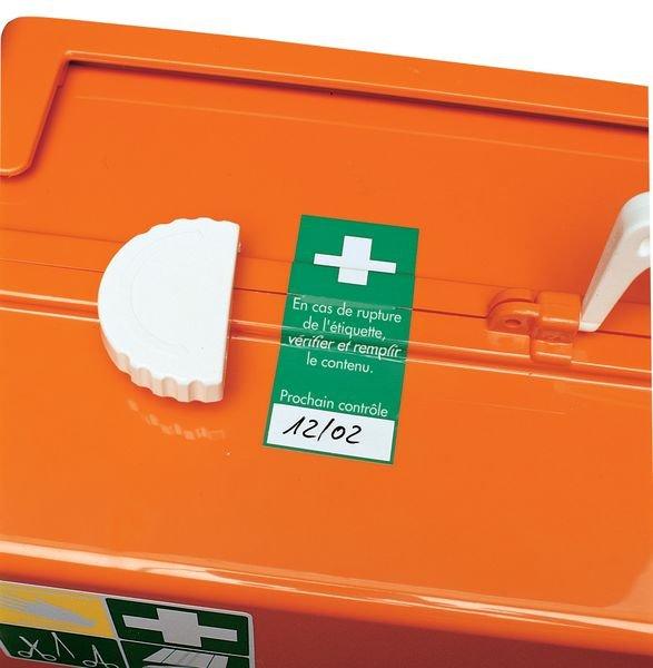 Etiquettes de contrôle pour trousse de secours - Seton