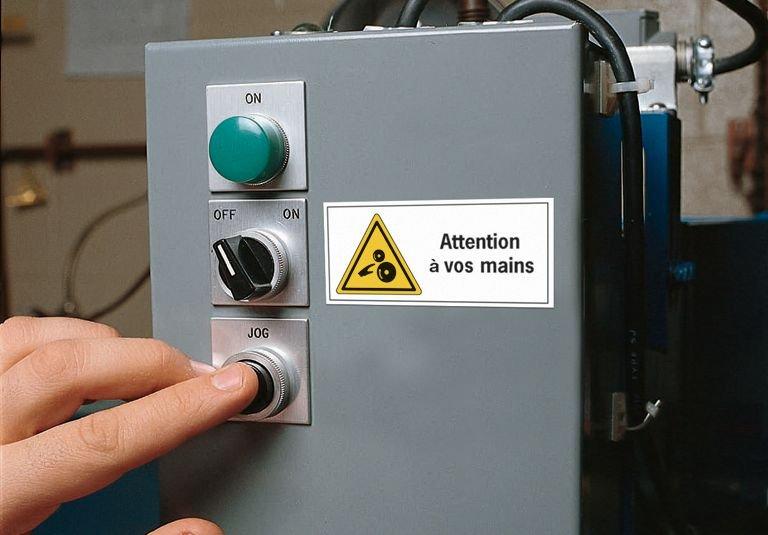 Panneau PVC adhésif - Danger électrique - Seton