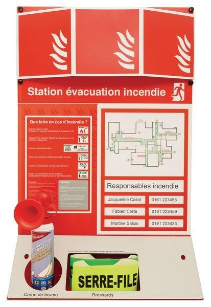 Station incendie et évacuation d'urgence