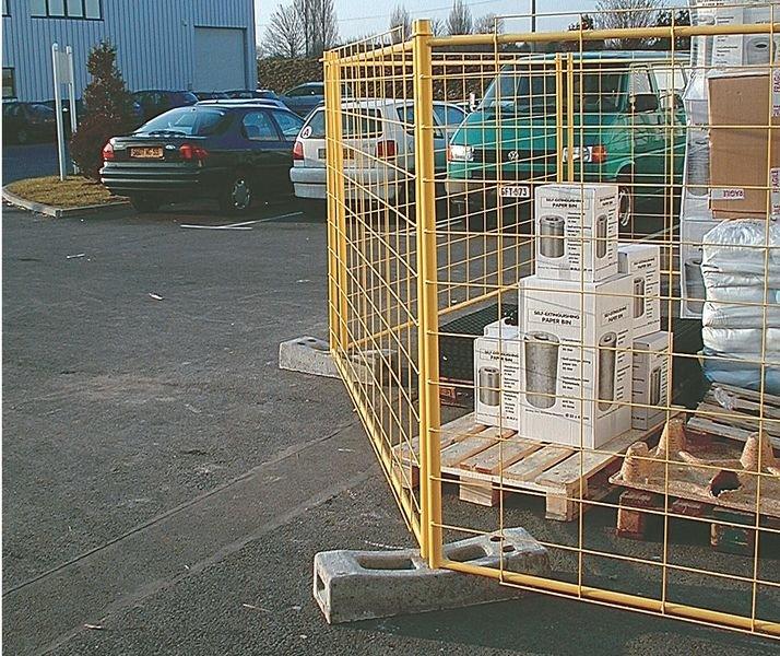 Socle en béton de 30kg pour grille de délimitation - Seton