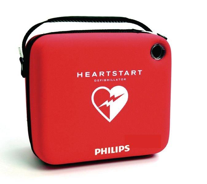 Défibrillateur semi-automatique HeartStart HS1 avec sa housse de rangement - Défibrillateur Automatique Externe (DAE)