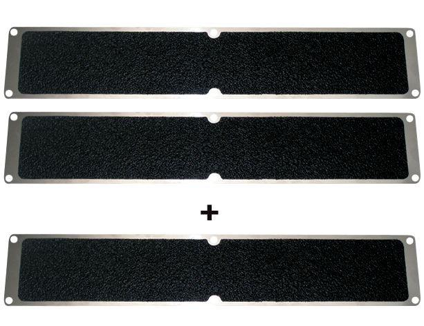 Lot de 3 plaques antidérapantes noires en aluminium - Puissance élevée (2+1 gratuite)