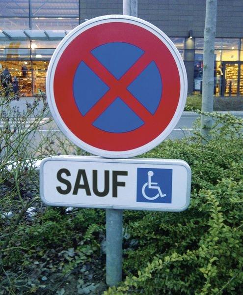 Panneau Arrêt et stationnement interdits sauf Handicapés - Panneaux interdiction de stationner et stationnement interdit