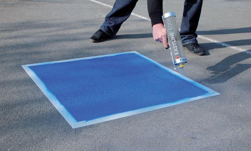 Prix Spécial - Kit pochoir et aérosol Easyline® symbole Stop - Marquage au sol : peinture, pochoirs, clous