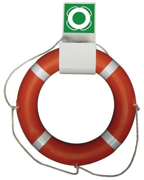 Prix Spécial - Pack de 2 bouées de sauvetage couronnes + 1 support = 1 support offert - Gilets et Bouées de sauvetage pour les quais