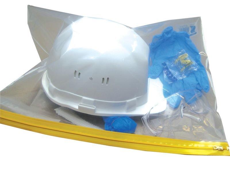 Kit EPI avec gants, lunettes, charlotte, sur-chaussures, bouchons d'oreille