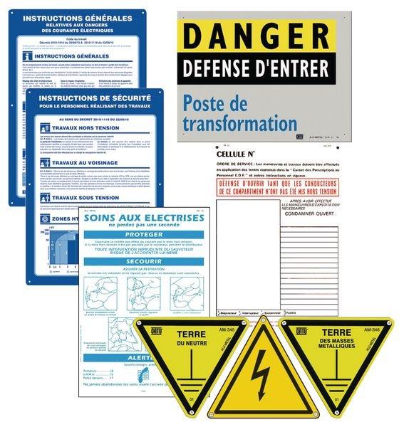 Kit de base pour signalisation de poste avec 9 panneaux