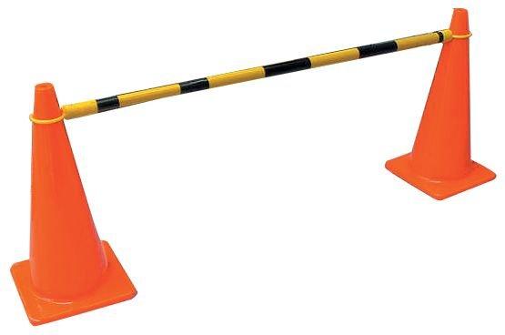 Lisses extensibles rétro-réfléchissantes pour cônes de chantier