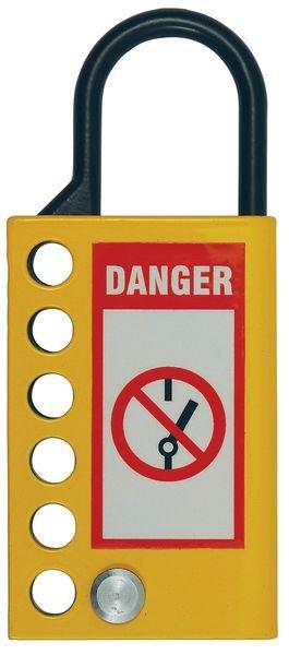 Condamnateur multiple en forme de cadenas anse en acier - Cadenas de consignation électrique non-conducteurs