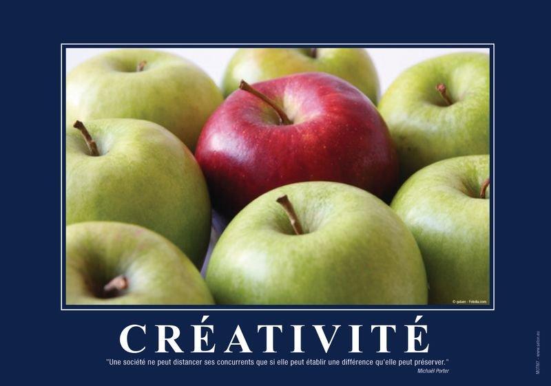 Poster de motivation plastifié - Créativité