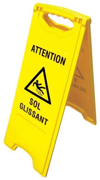 Chevalet de signalisation - Attention Sol glissant