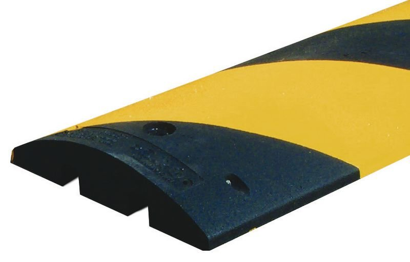 Ralentisseur monobloc en caoutchouc noir et jaune