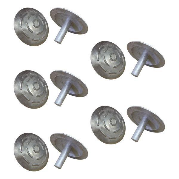 Lot de 10 clous de voirie en métal - Seton