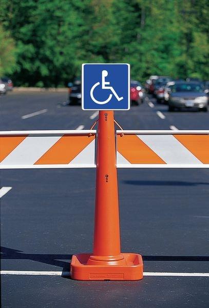 Panneau mural Rampe d'accessibilité handicapés avec texte Rampe d'accès - Seton