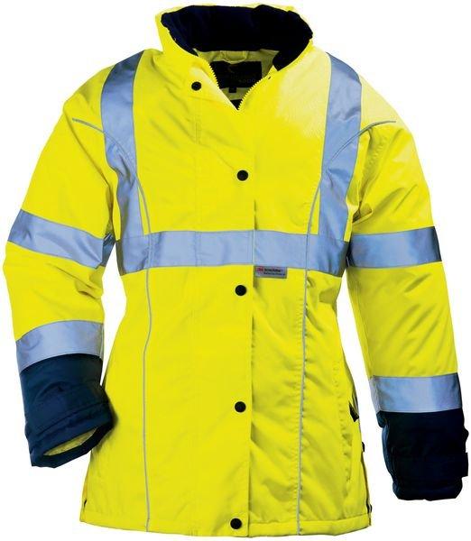Veste pluie pour femme, jaune fluo haute visibilité