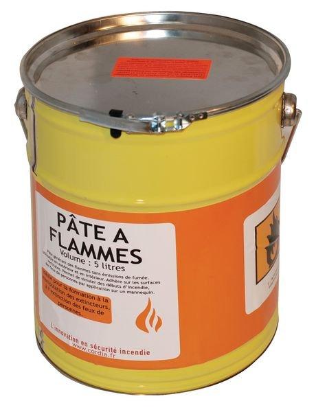 Pâte à flammes à usage intérieur et extérieur