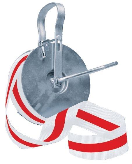 Dévidoir en métal pour rubans de signalisation