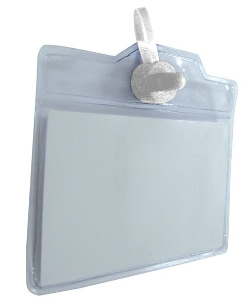 Pochettes porte-badge avec attache métallique