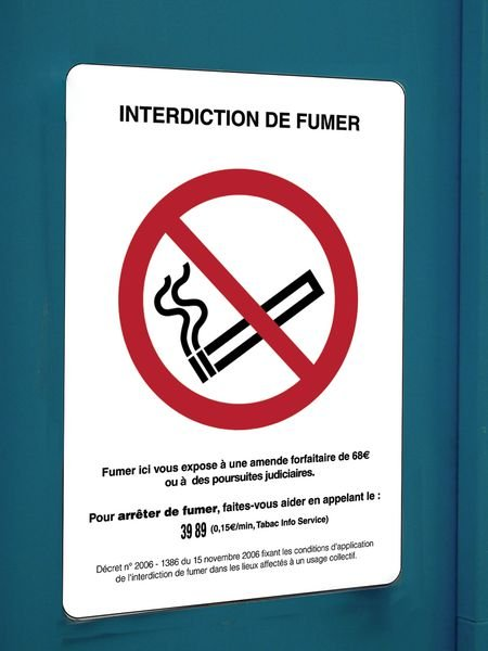Affiche officielle - Interdiction de fumer - Seton