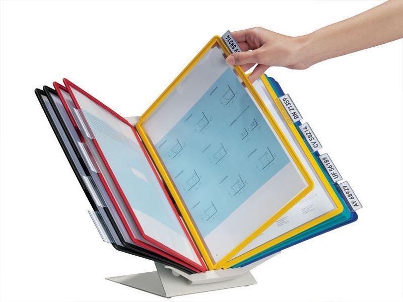 Support multifonctionnel protège-documents avec pochettes A4