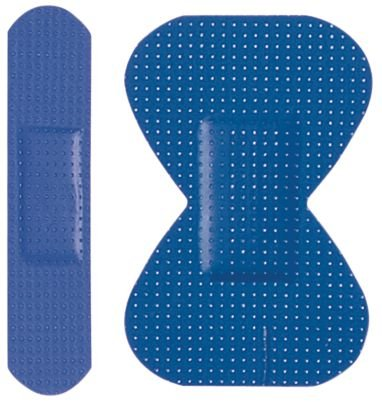 Pansements bleus détectables bout de doigts
