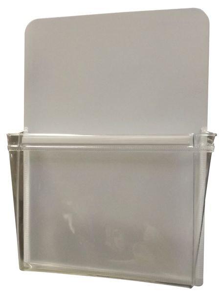 Porte-documents magnétique à pochette souple en vinyle transparent