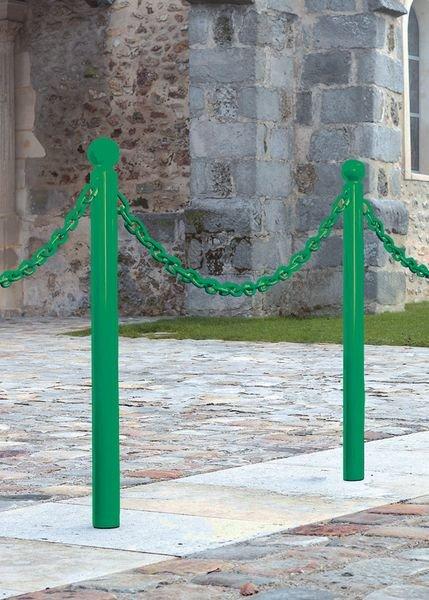 Poteaux de voirie en acier avec 1 ou 2 anneaux soudés