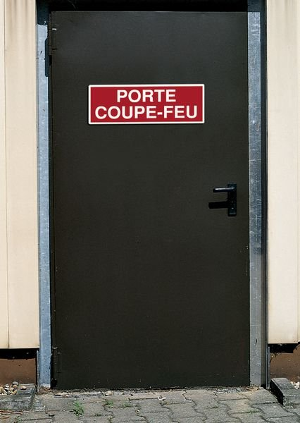 Panneau PVC adhésif - Coupure gaz - Seton