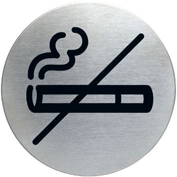 Panneau d'information design rond Interdiction de fumer