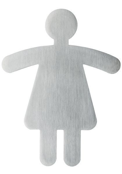 Signalétique adhésive à forme Toilettes femme