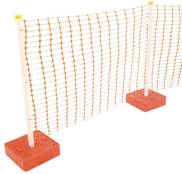 Poteau avec socle pour barrières plastiques de chantier - Seton