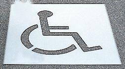 Pochoir synthétique pour marquage au sol Chaise roulante - Seton
