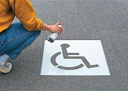 Pochoir synthétique pour marquage au sol Chaise roulante - Pochoirs de peinture de marquage au sol et aux murs