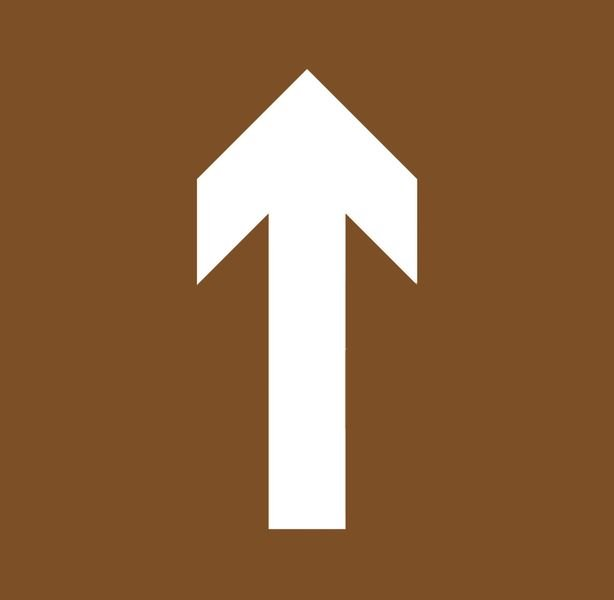 Pochoir en MDF pour marquage au sol Flèche directionnelle orientable
