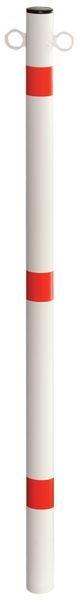 Poteau anti-stationnement avec œillets de fixation