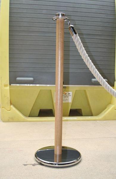 Poteau bois et métal à coupelle multidirectionnelle pour cordes - Seton