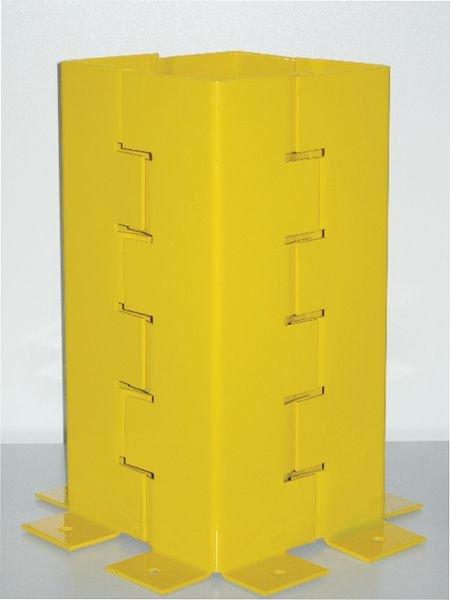 Protection pour poteaux en acier jaune