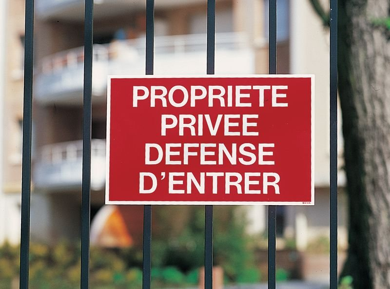 Panneaux à message standard - Entrée interdite à toute personne étrangère au service - Seton