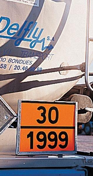 Plaques d'identification personnalisable pour le transport de matières dangereuses