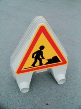 Panneau de signalisation temporaire en polypropylène Chaussée rétrécie - Seton