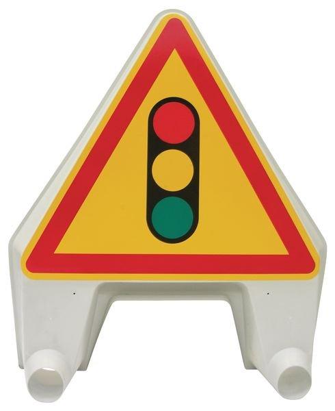 Panneau de signalisation temporaire en polypropylène Feu tricolore