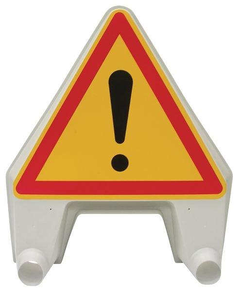 Panneau de signalisation temporaire en polypropylène Danger