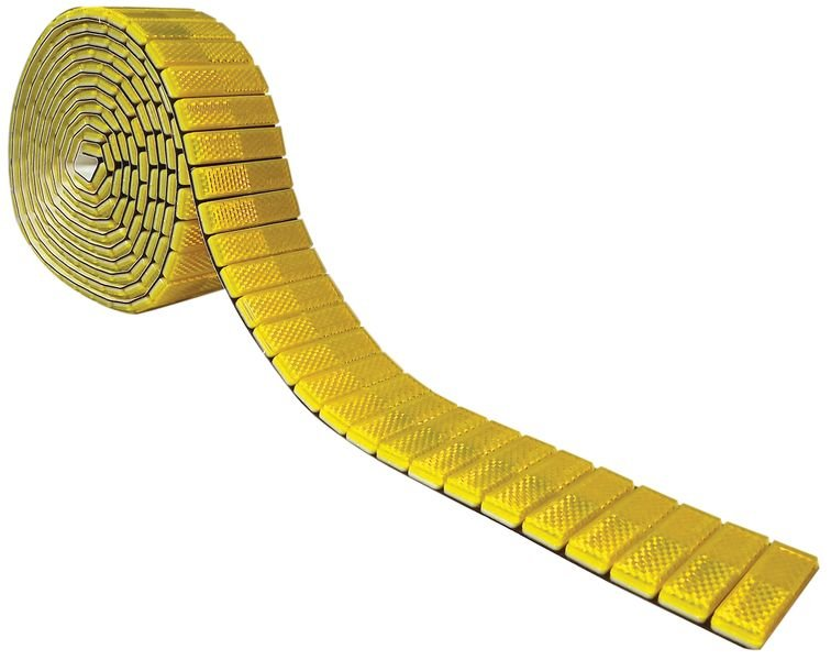 Réflecteurs catadioptres colorés en bandes adhésives