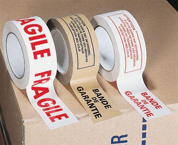 Ruban d'emballage avec texte Fragile - Rubans d'emballage