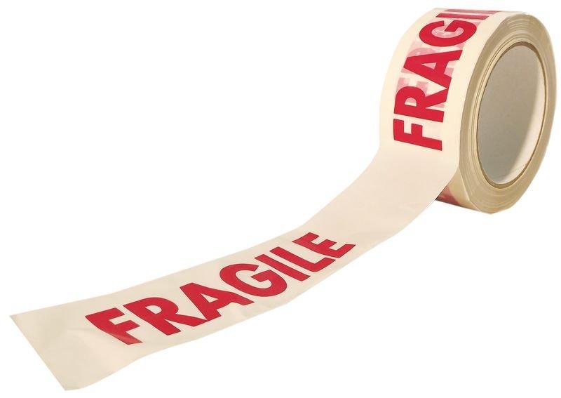 Ruban d'emballage avec texte Fragile