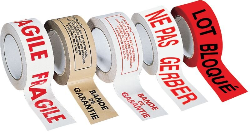 Ruban d'emballage avec texte Fragile - Emballage et matériel d'expédition de colis