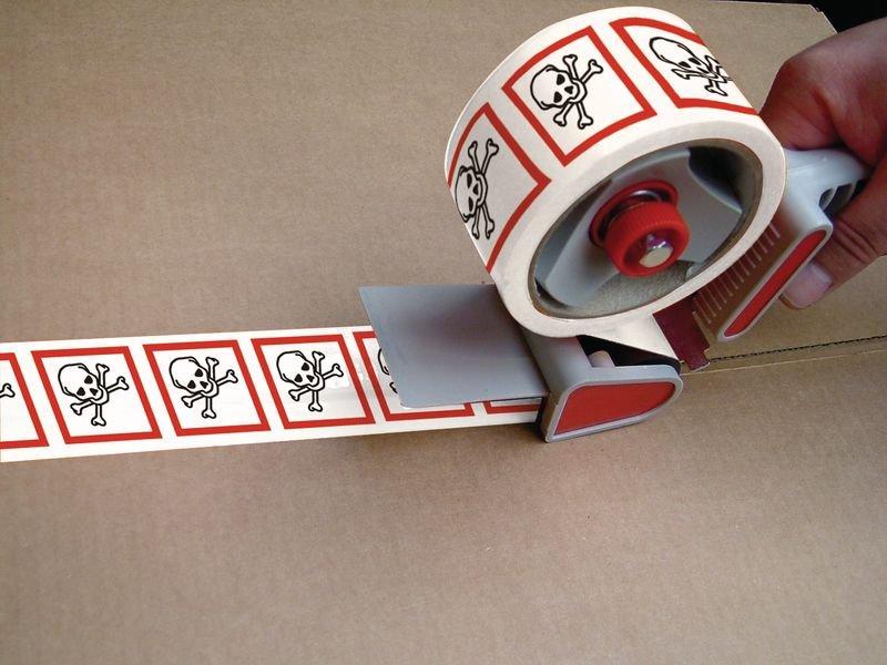Ruban d'emballage en polypropylène Danger pour sensibilisation cutanée, inhalation, corrosion ou irritation des yeux - Rubans d'emballage