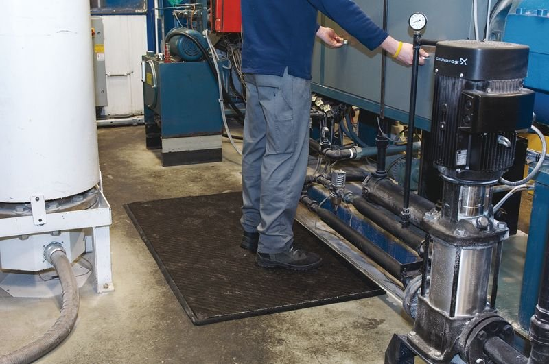 Tapis absorbant tous liquides industriels anti-fatigue - Seton